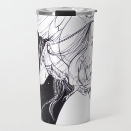 Woman with Owl Familiar Travel Mug