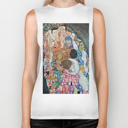 Gustav Klimt - Death And Life Biker Tank