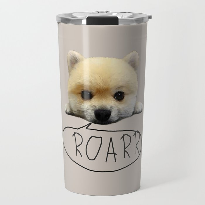 Cute pup with the heart of a tiger Travel Mug