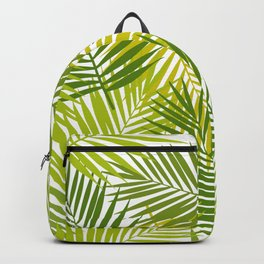 Palm leaf silhouettes seamless pattern. Tropical leaves. Backpack