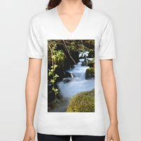 river V-neck T-shirts featuring River by W.B Photography