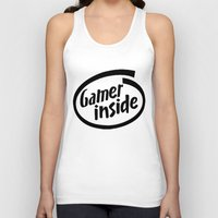inside gaming Tank Tops featuring Gamer iNSIDE by Blondie & Black Boy