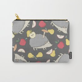 Hedgehog and Apples Carry-All Pouch