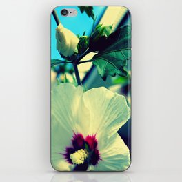 tiki flower with bud ~ flower photography iPhone Skin
