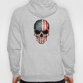 American Flag Skull on Black Hoody