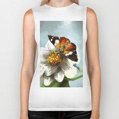 Butterfly on flower 12 Biker Tank