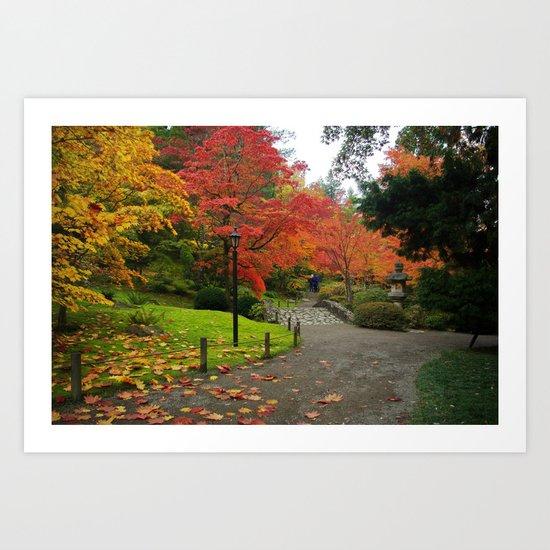 Autumn in the Japanese Garden Art Print