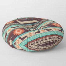 Boho dogs | Smooth Dachshund sunset Floor Pillow