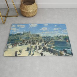 Pont Neuf Paris Painting by Auguste Renoir Rug