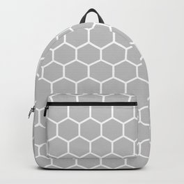 Honeycomb (White & Gray Pattern) Backpack