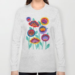 raw flower garden Long Sleeve T-shirt