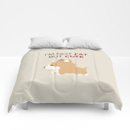 Not fat but cute corgi Comforters