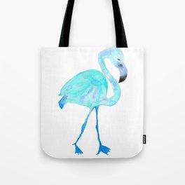 Aqua Watercolor Flamingo Tote Bag