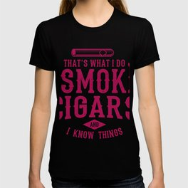 I Smoke Cigars Aficionado Cigar Gift T-shirt