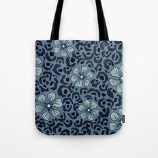 Blue animal print floral Tote Bag
