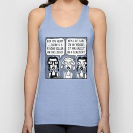 Horror Movie Sleepover Unisex Tank Top