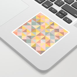 Earthy Pastel Triangles Sticker