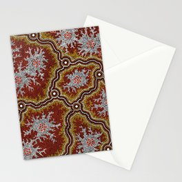 Aboriginal Art Authentic - Mountains Stationery Cards