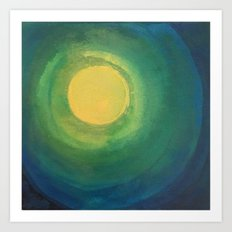 Abstract Moon Art Print