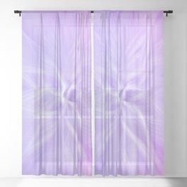 Purple Twirl Sheer Curtain