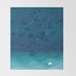 Libra zodiac constellation Throw Blanket