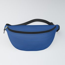 Slate Blue Brush Texture - Solid Color Fanny Pack