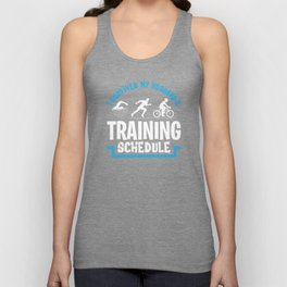Triathlon athlete marathon swimmer bike Unisex Tank Top