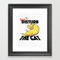 Don't disturb the cat Framed Art Print