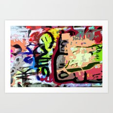 Art in Graffiti Art Print