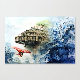 """The castle in the sky"" Canvas Print"