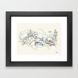 Beiramar avenida Framed Art Print
