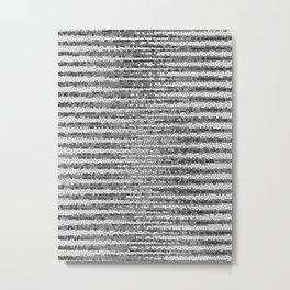 Abstract Stripes Black White Metal Print