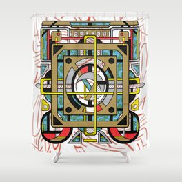 Switchplate - Surreal Geometric Abstract Expressionism Shower Curtain