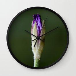 Purple Deduction Wall Clock