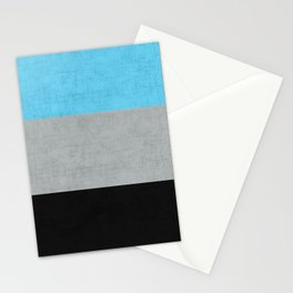 Tri Colour Stripes Stationery Cards