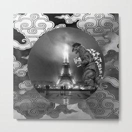 Godzilla World Tour Paris Metal Print