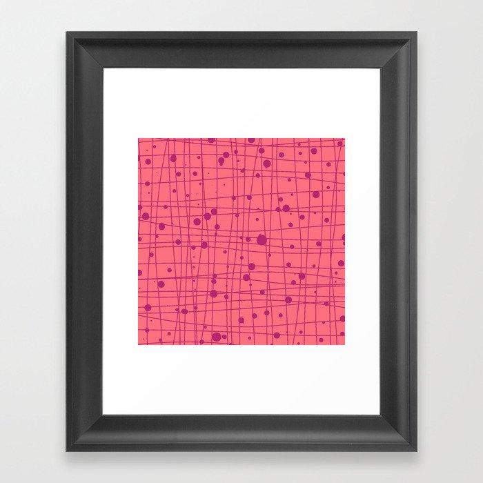 Woven Web pink Framed Art Print