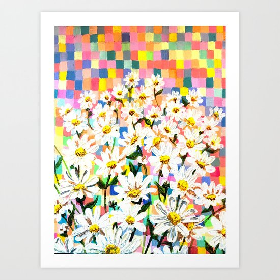 Land of Daisies Art Print
