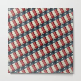 Vintage Texas state flag pattern Metal Print
