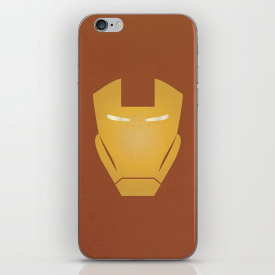 Minimalist IronMan iPhone & iPod Skin