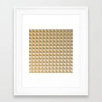 pyramid Framed Art Prints featuring pyramid by Ioana Luscov
