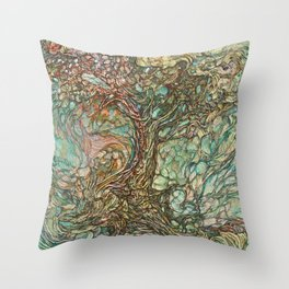 On the Wave of a Wind Throw Pillow