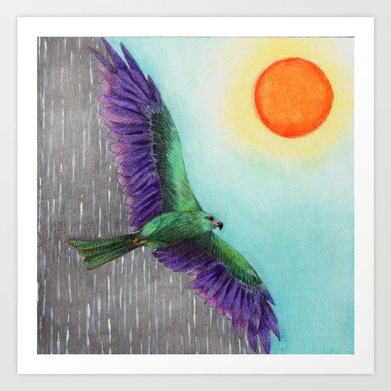 Rain Bird Art Print
