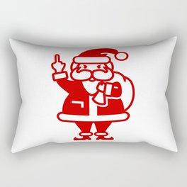 Angry Santa Rectangular Pillow
