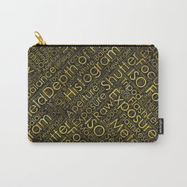 Photography Terms Word Cloud Pattern Gold on Black Carry-All Pouch