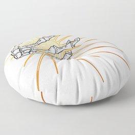 Skeleton Hand Inktober :: Dreadful Fairy Tales Floor Pillow