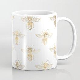 Gold Bee Pattern Coffee Mug