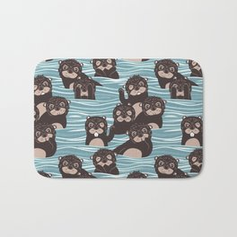 Otters dazzling the audience Bath Mat