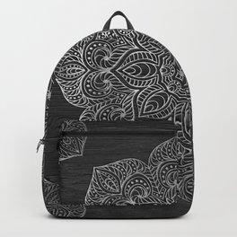 Wood Mandala - Silver Backpack