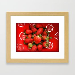 Strawberries forever Framed Art Print
